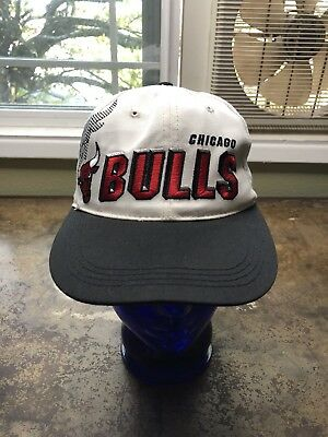 f0cac49f4f1 Chicago Bulls Hat Vintage 90s Sports Specialties Shadow Snapback NBA  Basketball