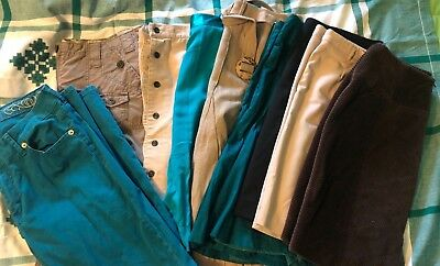 Designer lot:skirts (8) pants(1)Ann Taylor, Atelier Luxe,The Limited,etc Size 6
