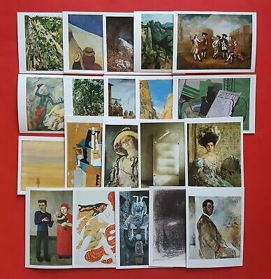 Set of 20 Different Art Postcards, Whistler, Corinth, Cezanne, Vernet, Picasso
