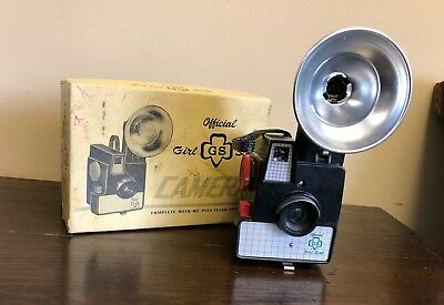 Vintage Girl Scout Camera 11-821 In Original Box With Flash