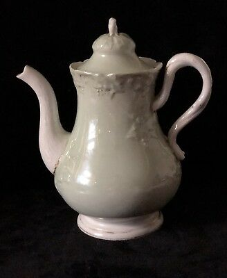 19th C Antique MEISSEN Gold Decorated Coffee Pot