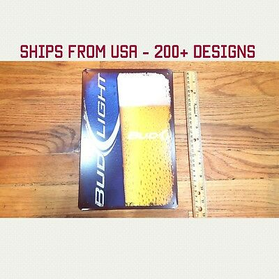Bud Light Sign Bud Light Beer Sign Bud Light Garage Tin Sign Metal Gifts Gift