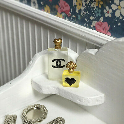 "Dollhouse Miniature Perfume Set Yellow 1"" scale 1:12 Bathroom"