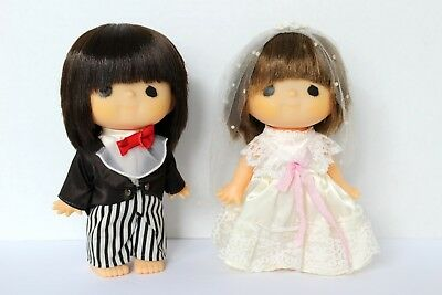 RARE vintage monchichi sekiguchi made in Japan wedding dolls