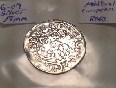 Medieval Silver Coin 19mm 15th Century Large Eagle