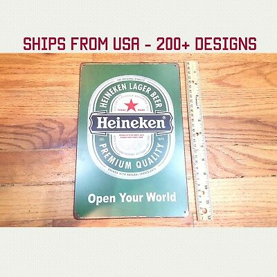 Heineken Logo Sign Heineken Beer Bottle Logo Sign Metal Heineken Man Cave Tin