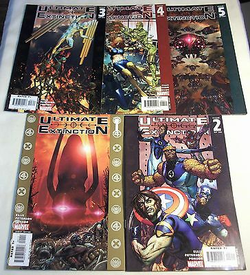 Ultimate Extinction #1, 2, 3, 4, 5 - Complete Set, Galactus, Lot of 5 Marvel