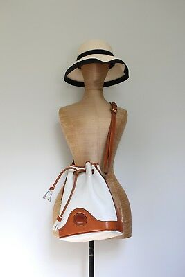 vintage Dooney & Bourke leather crossbody shoulder bucket bag purse