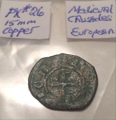 Medieval Crusader Coin From France 15mm 15th-16th Century
