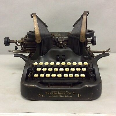 "Antique Typewriter ""The Oliver Standard Visible Writer No.9"""