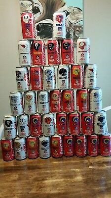 37 Classic Coca-Cola Coke NFL Collector Series Cans Packers Steelers Eagles Rams