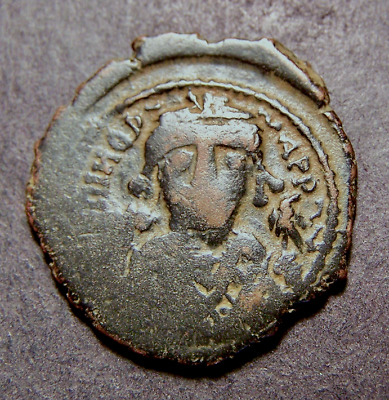 "MAURICE TIBERIUS, City of God, Antioch, Syria, Byzantine Emperor ""XX"" Coin"