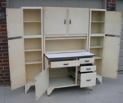 Hoosier Style Cabinet with Two (2) Rare Side Cabinets!!!