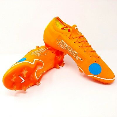 new products fc701 e10dc NIKE MERCURIAL VAPOR 360 Elite SE FG Off White Virgil Abloh Cleats Boot  Size 7.5