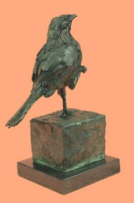 Asia Collectible Decorated Old Handwork Bronze Carved Dove Statue Figurine Deal