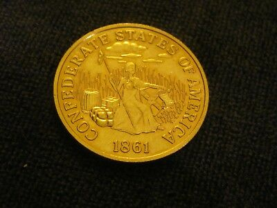 1861 Seated Liberty CSA Confederate States $20 Dollars Gold Coin Copy