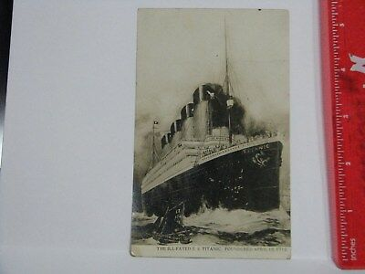 Postcard Ship RMS Steamer Titanic White Star Line Unused Post Disaster Olympic