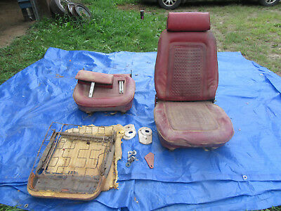1968-1969 AMC AMX Reclining Bucket Seats w/ headrests sst 390 Javelin tracks