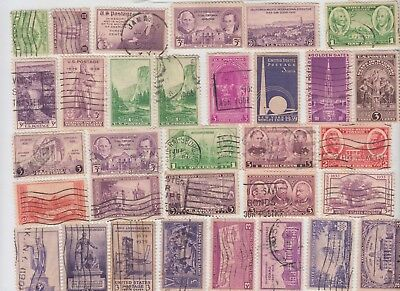 UNITED STATES 1930's Collection on Page REMOVED for Shipping MINT/USED