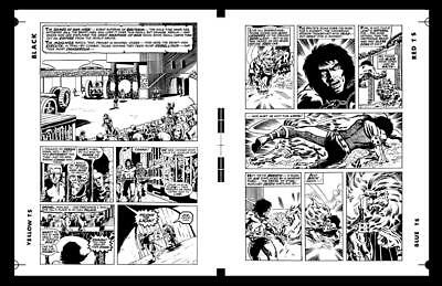 Barry Smith Conan The Barbarian #2 Pg 12 And Pg 13 Rare Large Production Art