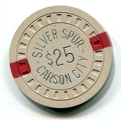 Carson City Nv SILVER SPUR $25 Casino Chip hub mold 1960s CR#N7832 Low Book $50
