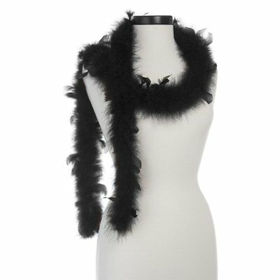 Black with Black Chandelle 25 Gram Marabou Feather Boas