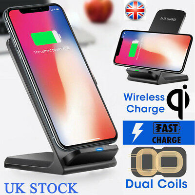 10W Wireless QI Fast Charger Charging Stand Holder For iPhone X 8 Plus XS XR