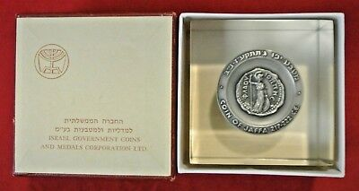1965 Israel State Gov't .935 Sterling Silver Jaffa 217-222 CE Medal Paperweight