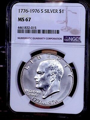 1976-S Silver Eisenhower NGC MS 67 * Price Guide $85 - Nice! *