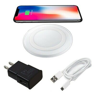 Qi Wireless Charger LED Charging Pad for iPhone 8 + X XR XS Samsung S8 S9 Note 9