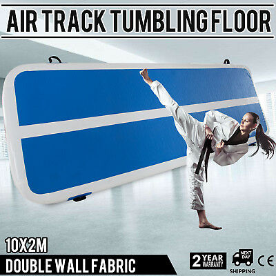 Inflatable Gym Mat Air Tumbling Track Floor w/Pump Home Equipment Airtrack