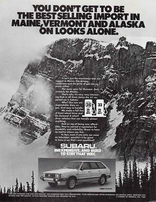 1981 Subaru: Best Selling Import in Maine, Vermont and Alaska Vintage Print Ad