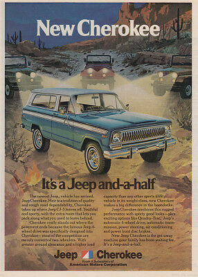 1973 Jeep Cherokee: It's a Jeep and a Half Vintage Print Ad