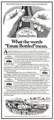 1979 Christian Brothers: What the Words Estate Bottled Mean Vintage Print Ad