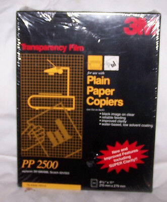 3M Transparency Film PP 2500 Plain Paper Copiers New Sealed 8.5 x 11