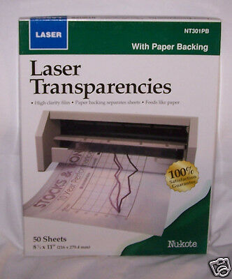 Transparency Film for Color Laser Printers 216 mm x 279 mm, 50 sheets 8 1/2 x 11
