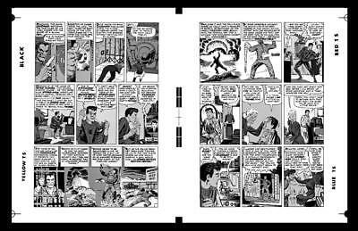 Steve Ditko Spider-man #4 Pg 6 And Pg 7 Rare Large Production Art