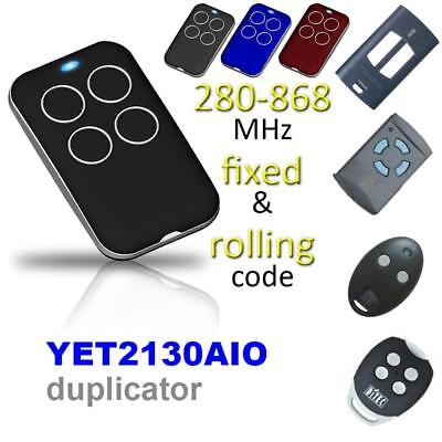 315-868MHZ Multi-frequency Cloning Garage Gate Remote Control Duplicator Key Fob