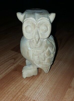 NEW Wooden Owl Whistle LARGE 5 in. Hooting Owl Musical Owl Hand Carved Waldorf