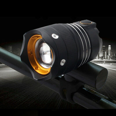 USB Rechargeable T6 LED Bicycle Light Zoomable Bike Headlight Night Riding Lamp