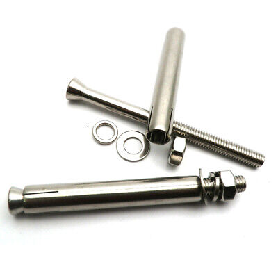 SS304 M6M8 M10 Concrete Sleeve Anchors Nuts & Washers Expansion Bolts