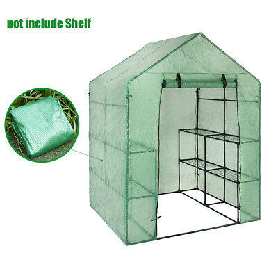 Mini Walk-in Greenhouse Garden Frame PVC Cover Roll Up Front Grow Plant Outdoor