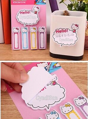 Hello Kitty Sticky Notes Memo Note Pads Bookmark Japan Kawaii Cute Notepad NEW
