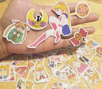 36pcs Sailor Moon Stickers Anime Decal US Seller Cute Decal Kawaii Cartoon