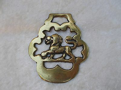 Vintage Horse Harness Brass Medallion/Badge - Lion