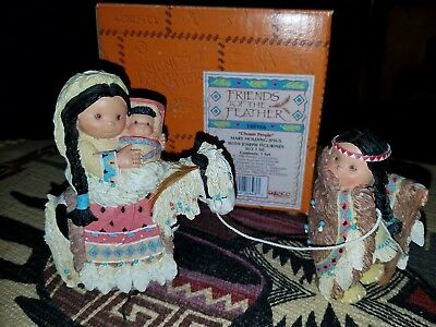 """Friends of the Feather """"Chosen People"""" Mary Holding Jesus w Joseph 1996 With Box"""
