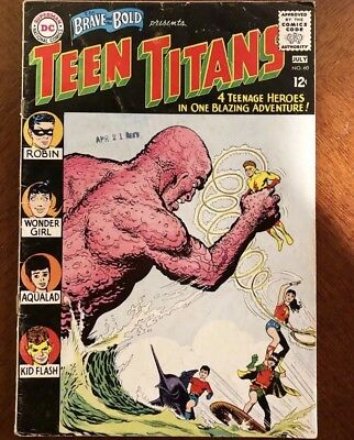 Brave And The Bold 60 GD Key Issue First App Wonder Girl And 2nd App Teen Titans