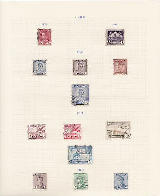 Iraq stamp collection on album pages
