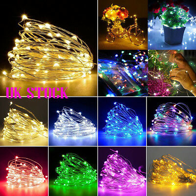20/30/50/100 LED Micro Rice Wire Copper Fairy String Lights Party Xmas Christmas