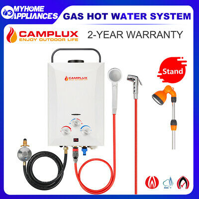 CAMPLUX Gas Hot Water Heater Portable Camping Shower System LPG Outdoor Caravan